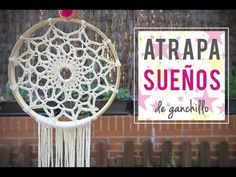 Atrapasueños rústico con mandala de ganchillo y madera. Dreamcatcher made with crochet mandala. - YouTube