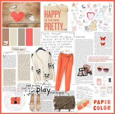 """Happy is the new pretty"" by lovelypao ❤ liked on Polyvore"