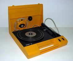 Philips 180 Portable Record Player. #recordplayer #turntable http://www.pinterest.com/TheHitman14/the-record-player-%2B/