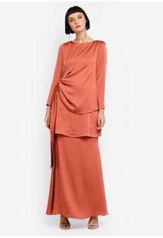 Asymmetrical Wrap Kurung from Ezzati Amira in Kebaya, Peplum Dress, Fashion Ideas, Dresses For Work, Formal, Stuff To Buy, Travel, Outfits, Inspiration