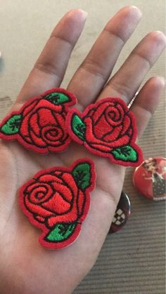 1.29 5pcs Cute Colorful Rose Applique Flowers Patch Embroidered Sew Iron on Clothes Bags Handmade DIY Craft Ornament Fabric Sticker | Aliexpress Mobile