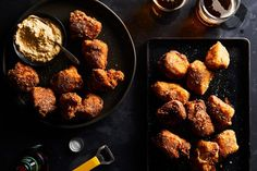 Chicken Nuggets with Warm Kimchi-Bacon Ranch Dip recipe on Food52