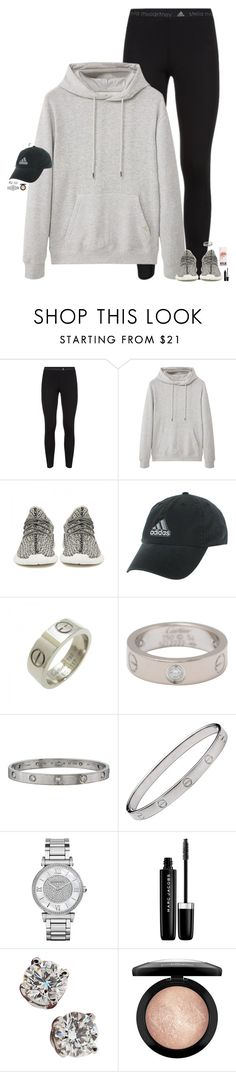 """improve, improve, improve."" by maggie-prep ❤ liked on Polyvore featuring adidas, MANGO, adidas Originals, Cartier, Michael Kors, Marc Jacobs, Tiffany & Co. and MAC Cosmetics"