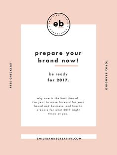 why now is the best time of the year to move forward for your brand and business, and how to prepare for what 2017 might throw at you. >> click through to find out!