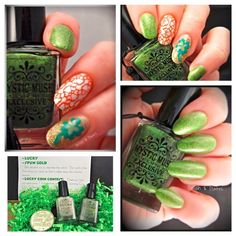 St. Patrick's Day Manicure #Nail Art Mystic Muse Nail Lacquer by Polish & Plates