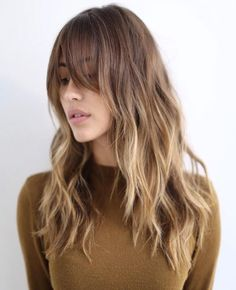 Parted fringe / long waves hairstyles 2016