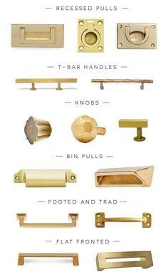 We can't get enough of brass hardware in any and every style!
