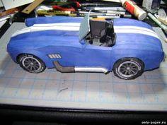 Paper car model Ford Cobra A / C