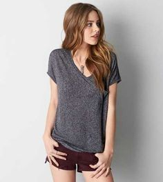 AEO Women's Soft & Sexy Pocket Jegging T-shirt from American Eagle Outfitters. Shop more products from American Eagle Outfitters on Wanelo. Mens Outfitters, Eagle Outfitters, Girl Outfits, Fashion Outfits, Womens Clearance, T Shirts For Women, Clothes For Women, Pretty Outfits, Fitness Fashion