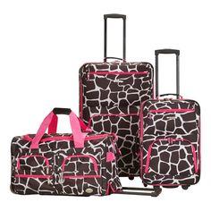 Rockland 3-Piece Wheeled Luggage Set c0b8ecb7db11b