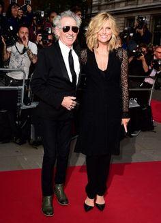 Keith Richards y su fantástica mujer Patti Hansen en la entrega de los premios…