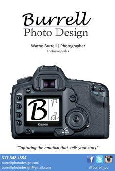 Business card design 1 burrellpd photographer burrell photo business card design 2 reheart Gallery