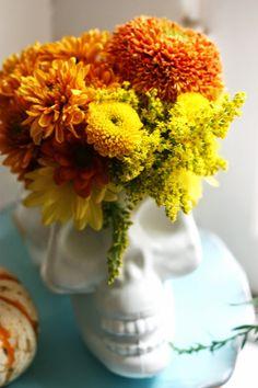 DIY Dollar Store Skull Vases   The Pretty Life Girls