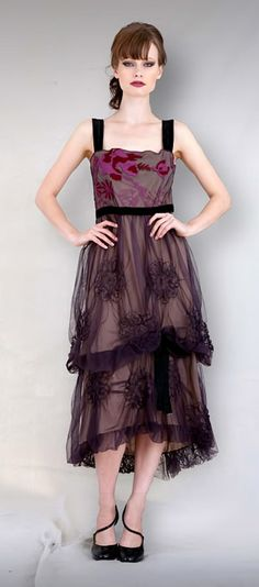 purple goth dress