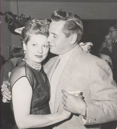 Lucille Ball and Desi Arnaz Dancing in Palm Springs, CA