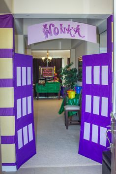Willy Wonka birthday party factory gates