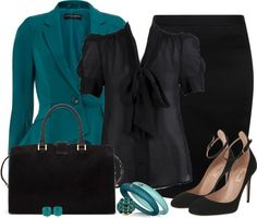 """""""The teal blazer"""" by madamedeveria ❤ liked on Polyvore"""