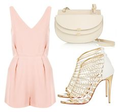 """""""Untitled #2267"""" by fiirework ❤ liked on Polyvore featuring Topshop, Chloé and Christian Louboutin"""
