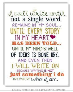 Write On Typography Print Motivational And by thedreamygiraffe