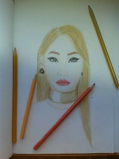 2ne1 CL drawing :-) I really like Doctor Pepper song <3
