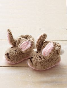 Yarnspirations.com - Bernat Hop To It Booties - Patterns  | Yarnspirations