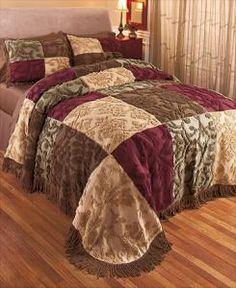 #619020019 Chenille Patchwork Jewel Full/Queen Bedspread by sensationaltreasures