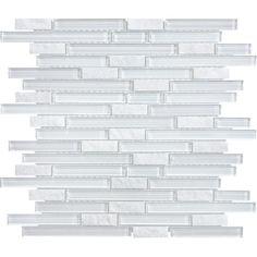 "Bliss 5/8"" x Random - Norwegian Ice Linear Mosaic By SouthCypress.com"