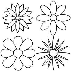 Repeating the petal pattern to reveal four different kinds of flowers