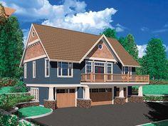 Side basement entrance plan 034G-0011 - Find Unique House Plans, Home Plans and Floor Plans at TheHousePlanShop.com