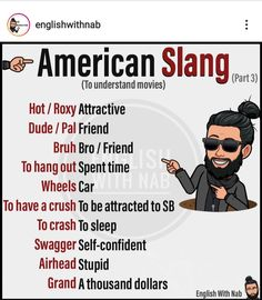 Slang English, English Phrases, English Idioms, English Lessons, American Slang Words, British Slang Words, Interesting English Words, Learn English Words, Advanced English Vocabulary