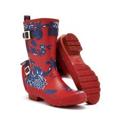 Joules Women's Mid Calf Mollywelly | Joules Short  Patterned Wellington  http://www.nichollscrickhowell.com/joules-womens-mid-calf-mollywelly-p14778