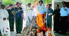 New Delhi: Five canons bellowed out 17 shots in cyclical fashion with a 2.5 second gap between each round, three Sukhoi fighter aircraft flew in a 'missing man' formation and three Mi 17 helicopters flew overhead trooping IAF colours as the nation honoured the Marshal of the Indian Air Force...