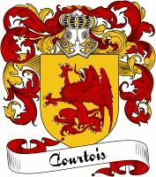 Courtois Coat of Arms  Courtois Family Crest   VIEW OUR FRENCH COAT OF ARMS / FRENCH FAMILY CREST PRODUCTS HERE