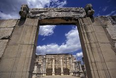 size: Photographic Print: Entrance to Synagogue Where Jesus Preached in Capernahum, Galilee, Israel by Richard Nowitz : Subjects Heiliges Land, Jewish History, Church History, Visit Israel, Les Religions, Israel Travel, Place Of Worship, Holy Land, Historical Sites