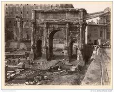 Italie, Roma, Arco Settimio Severo Vintage albumen print.   Tirage albuminé   20x25   1880
