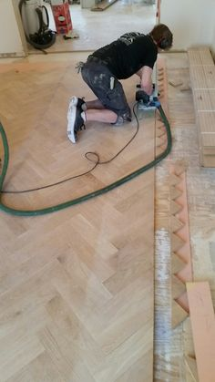How-To: A Herringbone Wood Floor, Part 4 (Installation, Sanding, Staining & Finishing)