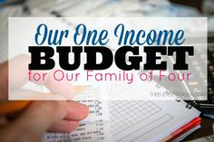 I'm sharing our one income budget for our family of four - with real numbers! See how we live on $58K a year as a family of four. It is possible to live well on less.