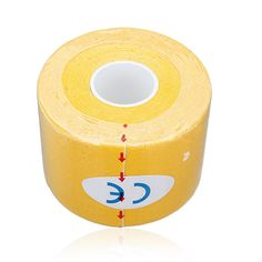 SZ-LGFM-1 Roll Muscles Care Fitness Athletic Health Tape 5M * 5CM - Yellow #Affiliate