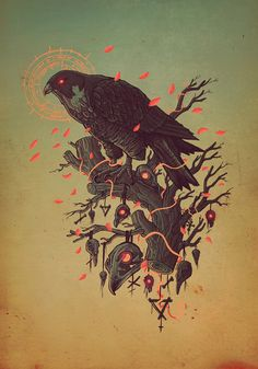09 polish rare & endangered birds on behance art/illustration искусс Illustration Main, Wallpaper Animes, Bild Tattoos, Art Watercolor, Design Graphique, 2d Art, Illustrations And Posters, Vector Art, Vector Graphics