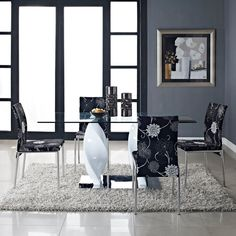 Ice Quarry Dining Table in White modern dining tables