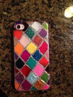 Diy nail polish phone case