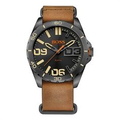 Hugo Boss Herrenuhr Lederarmband braun 1513316 https://www.thejewellershop.com/ #hugoboss #boss #herrenuhr #watch #uhr #watches #men #style #fashion #schmuck #uhren #lederarmband #steel #jewelry