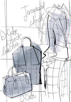 Alessandra Facchinetti Tod's Sketch