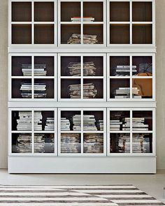 So, it's called a window pane bookcase...would it be possible to turn old salvaged windows into doors for shelving?