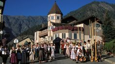 Willkommen to Leavenworth, Wash. The tiny town, located in North Central Washington's Cascade Mountains, has remade itself to look like a Bavarian village.