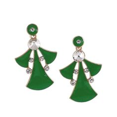 Green Earrings Dangle & Drop Stone Studded for Women Online from Ganges India at best prices. Green Earrings, Dangle Earrings, Ethnic Jewelry, Jewellery, Dangles, Fashion Jewelry, Brooch, Stone, Metal