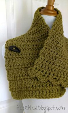 The Lemon Balm Button Cowl is a pretty and easy to crochet neck wrap. Its simple construction of double crochet stitches is finished o...