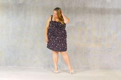 Holding on to Spring {She Wore What} #PLUS #SIZE #FLORAL #DRESS #BLOG