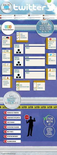 Infographic: 10 Twitter Rules Every Business Needs to Know Before Posting [INFOGRAPHIC] #socialmedia