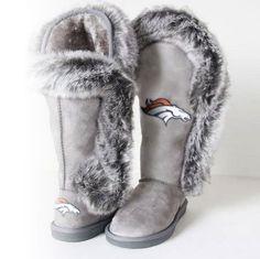"""Denver Broncos Women's Cuce Official NFL """"Winner"""" Boots"""